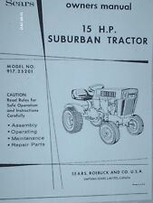 917.25201- Sears Super 15 Garden Tractor Manual & Lists on CD