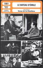 LE BATEAU D'EMILE - Ventura,Girardot,Simon (Fiche Cinéma)1961 - Le Homard Flambé