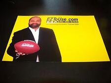 PITTSBURGH STEELERS FRANCO HARRIS 2012 EZTOUSE.COM POSTCARD PROMO CARD
