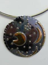 Himmelsscheibe von NEBRA 4cm 925 Silber Teile 14 Karat vergoldet