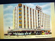 Missoula Mt Hotel Florence America's Finest Small Hotel Postcard c1940