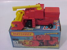 1977 MATCHBOX LESNEY SUPERFAST 51 COMBINE HARVESTER MIB