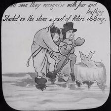 Glass Magic Lantern Slide ICE PETER NO17 C1910 EDWARDIAN CARTOON STORY