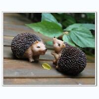 2pcs Resin Emulation Hedgehog Safty Lovely Animals for Home Table Decoration