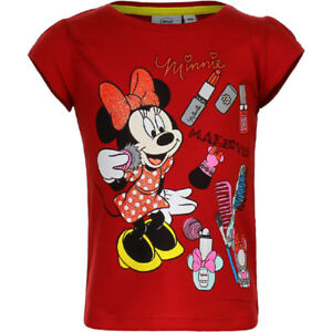 DISNEY t-shirt MINNIE 3 4 6 ou 8 ans rouge manches courtes NEUF