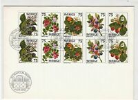 sweden 1977 plants with berries fdc stamps cover ref 20675