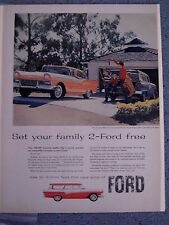 FORD FAIRLANE 500 TOWN VIC / DEL RIO RANCH WAGON- VINTAGE AMER. NEWSPAPER  AD.