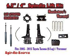 """6.5"""" / 4"""" Lift Kit + Brakelines + SHOCKS, fits 2005 - 2018 Toyota Tacoma 6 Lug"""