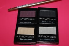 LOT/4 REVLON LUXURIOUS COLOR PERLE EYE SHADOW #035,055,050,045 SEALED RARE +GIFT