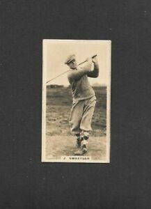 "LAMBERT & BUTLER 1926 SCARCE ( GOLF ) TYPE CARD  """"  # 30 JESSE SWEETER  """""