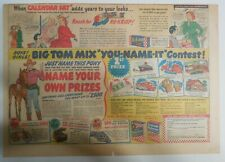 """Ralston Cereal Ad: Tom Mix """"Name Your Prize"""" Prizes 1948 Size:11 x 15 inches"""