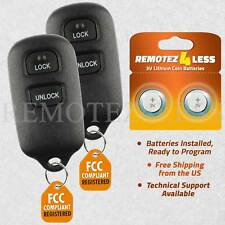 2 For 2004 2005 2006 2007 Toyota Highlander Remote Car Keyless Entry Key Fob