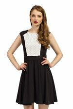 WOMENS LITTLE MISTRESS LAZER CUT SKATER DRESS UK SZ 10 BNWT RRP £55