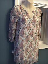 Abercrombie et Fitch Rose Paisley Robe Tunique Soze XS 6-8 BNWT
