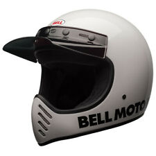 BELL MOTO 3 HELMET - CLASSIC GLOSS WHITE - MX - **FAST FREE DELIVERY**
