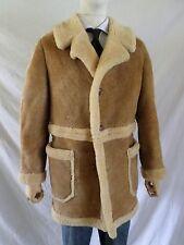 SHEEPSKIN LEATHER Sherpa wool rancher cowboy western coat 42