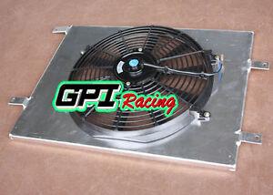 Aluminum Radiator Shroud +Thermo FOR HOLDEN Commodore VN VG VP VR VS V6 3.8L