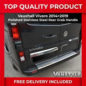 VAUXHALL OPEL VIVARO 2014>19 CHROME POLISHED S.STEEL TWIN DOOR GRAB HANDLE TRIM