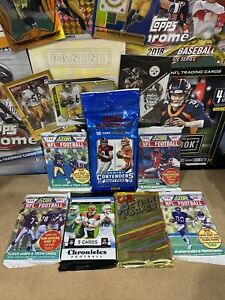 NFL Sealed Packs X7 Chronicles Mega Pack Contenders Fat Pack 🏈🔥 Sports Cards