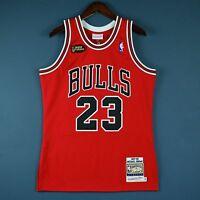100% Authentic Michael Jordan Mitchell Ness 97 98 Finals Bulls Jersey Size 36 S