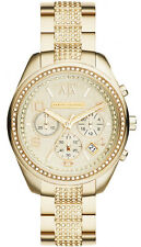 Armani Exchange AX5516 Champagne Dial Gold Tone Stainless Chrono Women's Watch