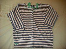 Cherokee girls blue stripe top loose fit 13-14 years spring summer vgc
