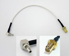CRC9 to female SMA socket antenna connector adapter cable for 3G huawei RP-SMA