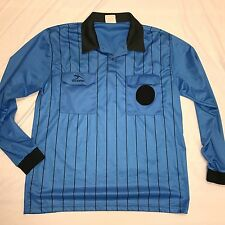MD AM Score Ref Soccer Referee Officials Jersey's Blue Long Sleeve Polo EUC