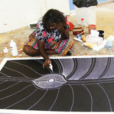 ABORIGINAL ART PAINTING by ANNA PETYARRE (PITJARA) MY COUNTRY. Authentic Artwork