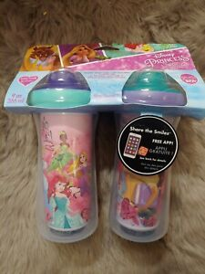 Disney Princess Insulated Hard Spout Sippy Cups 9 Oz, 2pk