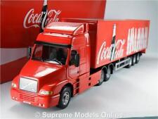 COCA COLA MODEL TRUCK LORRY VOLVO NH12 1:50 BOX TRAILER CARARAMA CHRISTMAS T3