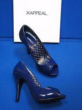 6 M XAppeal Navy Dark Blue Kitty Stiletto High Heels Open Toe Ladies Womens Shoe