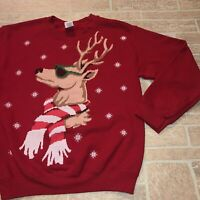 Ugly Reindeer Sweater Xmas Christmas Red size Small