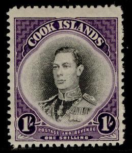 COOK ISLANDS GVI SG143, 1s black & violet, M MINT.