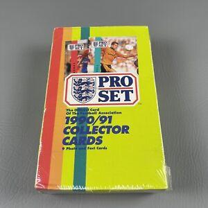 1990/91 Pro Set Soccer Football Cards 48 Packs Factory Sealed Box