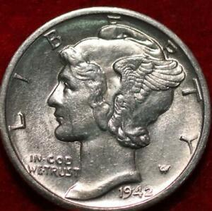 Uncirculated 1942-D Denver Mint Silver Mercury Dime