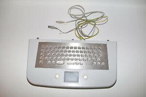 Edelstahl Tastatur Keyboard + Touchpad Vandalismusgeschützt USB Industrie Kiosk