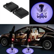 2*Wireless Car Door Decor LED Logo Wolverine Ghost Welcome Light Laser Projector