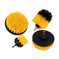 4Pc Drill Brush set Cleaning Polishing Brush for Car Seat Tyre Ceramic Clean Kit
