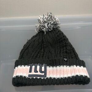 New York Giants 47 Brand Women's Winter Hat. New NWT Gray Beanie Cap. NFL