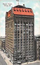 Illinois postcard Chicago Masonic Temple ca 1909