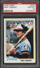 1978 Topps #219 Mike Cubbage - Twins - PSA 10 - 22378428