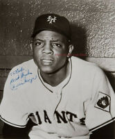 Willie Mays Signed Autograph reprint 8x10