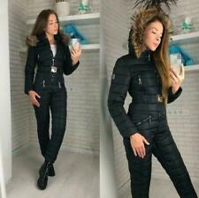 Womens Winter Outdoor Snowsuit Sports Jumpsuits Hoodie Warm Snowboard Ski Suits@
