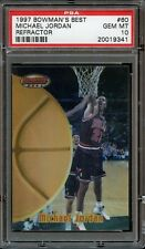 1997 Bowman's Best Refractor Michael Jordan #60 PSA 10 GEM MINT. Rare POP 19