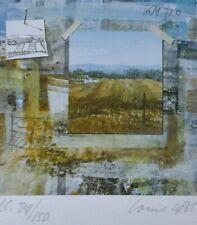 Louis L.G.N. Busman Landscape HAND SIGNED NUMBERED 1985 SERIGRAPH Dutch ARTIST