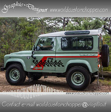2 KIT GRAFICHE ADESIVE STICKERS  DEFENDER 4X4 FUORISTRADA OFF ROAD JEEP