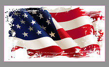 "Flying American Flag 9"" Premium Vinyl Bumper Sticker Decal Patriotic USA"