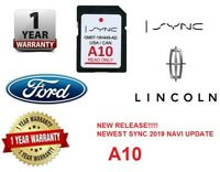 FORD LINCOLN A10 MAP UPDATE A9 NAVIGATION GPS SD CARD SYNC 2019 USA CANADA