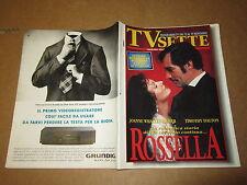 RIVISTA TV SETTE N°45/1994 VIA COL VENTO T.DALTON BERLUSCONI E.FEDE MANNOIA